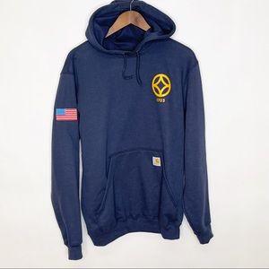 NWT Carhartt Navy Pullover Sweatshirt Small